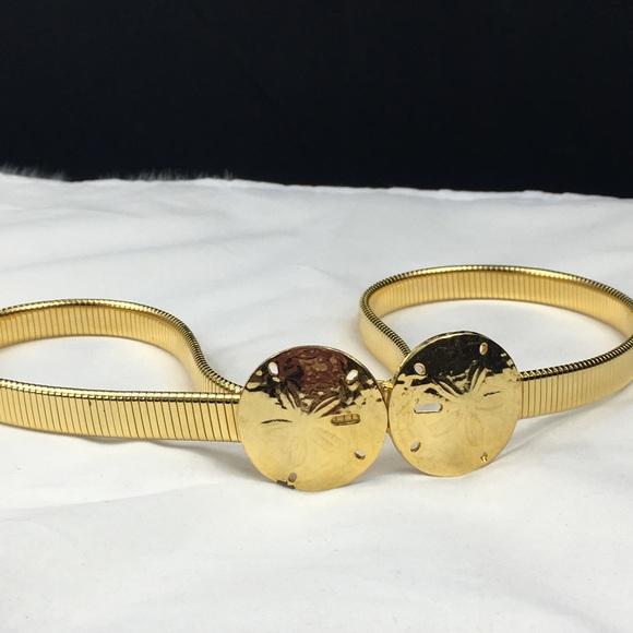 Vintage Accessories - Vintage Accessocraft NYC Sand Dollar Stretch Belt